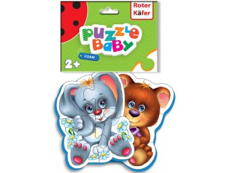 RK1101-04 Baby Puzzle Ursul-Iepure Roter Kafer