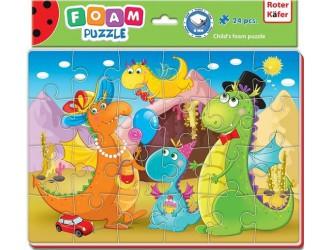 RK1201-09 Puzzle moi A4 Imagini vesele Dinozauri Roter Kafer