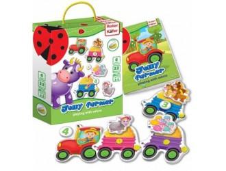 RK6101-03 Игра с липучкой Веселый Фермер Jolly Roter Kafer Vladi Toys