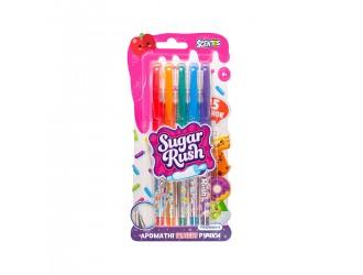 """41343 Set de pixuri cu gel parfumate din seria """"Sugar Rush"""" - BRIGHT GLITTER (5 buc.)"""