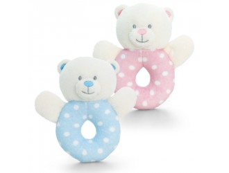 SN0769 Мягкая игрушка Медвежонок-погремушка Baby Bear Ring Rattle 12cm 2 вида
