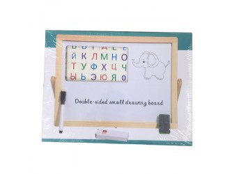 0525 Tabla Dubla lemn cu set 35х27cm (magnet)