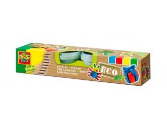"""24911S Pasta  pentru modelarea seriei """"Eco"""" - CLASICA (4 culori, оn borcane de plastic)"""
