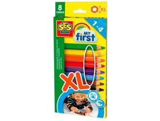 "14416S Set de creioane colorate XL seria ""My first"" - Curcubeu (8 culori)"