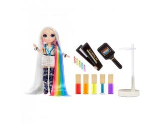 569329 Papusa Rainbow High - Amaya Raine cu accesorii pentru coafura