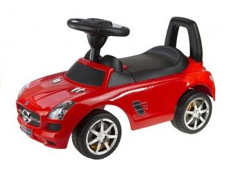 44 Masina Tolocar Mercedes-Benz culoare rosie (cu sunete)
