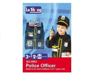 340 Costum Politist pentru copii cu accesorii