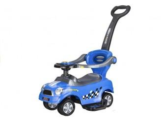 1260 Masina Tolocar Coupe cu maner si suport culoare albastra (cu sunete)