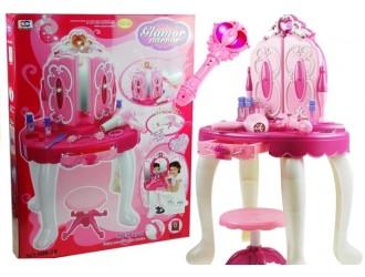 1452  Набор для девочек стол для макияжа с Mp3 со стулом и с аксессуарами