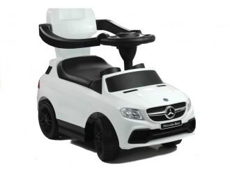 2333 Masina Tolocar Mercedes cu maner si suport culoare alba (sunete si lumini)