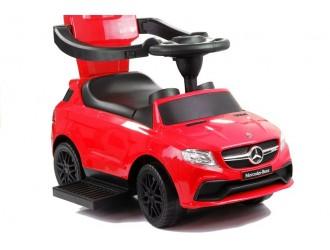 2334 Masina Tolocar Mercedes cu maner si suport culoare rosie (sunete si lumini)