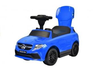 2335 Masina Tolocar Mercedes cu maner si suport culoare albastra (sunete si lumini)