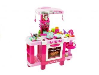 4209 Набор розовая кухня с посудой и аксессуарами (звуком и светом)