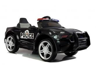 4781 Masina electrica Politie BBH0007 culoare neagra cu 2 motoare