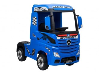 5238 Masina electrica Mercedes Actros culoare albastra MP4 cu 4 motoare