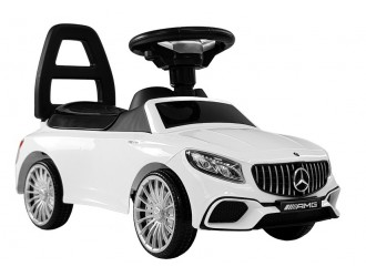 5945 Masina Tolocar Mercedes AMG S65 culoare alba (sunete si lumini)