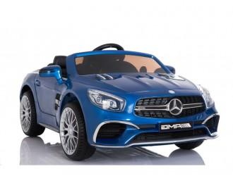 7285 Masina Electrica Mercedes SL65 culoare albastra cu 2 locuri 2 motoare