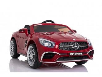 7286 Masina Electrica Mercedes SL65 culoare rosie cu 2 locuri 2 motoare