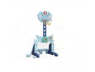 WM19045 Cos Basket+Fotball  albastru