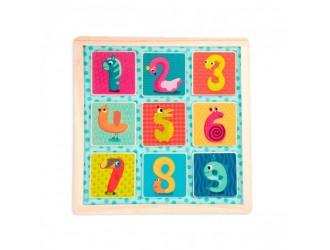 BX1848GZ Jucarie din lemn Cifre magnetice BATTAT 053857