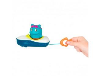 LB1711Z Jucarie pentru baie barca cu figurina hipopotam BATTAT 053861