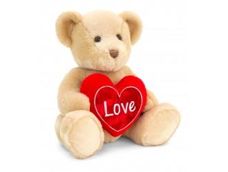 SV2133 Jucarie de plus Ursulet Chester brun cu inima 40 cm