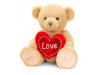 SV2150 Мягкая игрушка Медвежонок Снуглес коричневый с сердцем 25 см