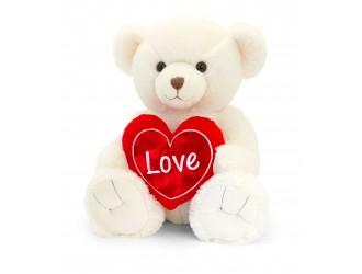 SV2164 Jucarie de plus Ursulet Snuggles crem cu inima 45 cm
