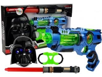 7096 Set de joaca cu masca, sabie si pistol laser cu sunete si accesorii