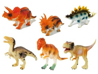 7152 Набор из 6 фигурок динозавры разных типов