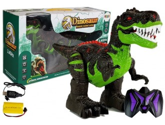 7230 Jucarie Dinozaur cu telecomanda RC negru-verde