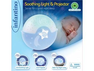 004627I INFANTINO Светильник голубой «Спокойные сны»