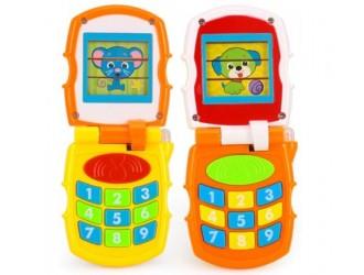 HolaToys 766 Telefon mobil cu muzica si lumina in sort.