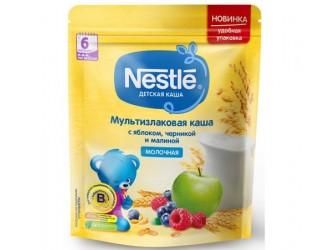 Nestle Terci multicereale din lapte cu mere, afine si zmeura 220 gr. (6 m+)