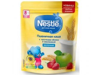 Nestle Terci de grau cu lapte, mere si capsuni 220 gr. (8 m+)