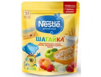 Nestle Terci 5 cereale din lapte Шагайка mere-capsuni-piersici 220 gr. (12 m +)