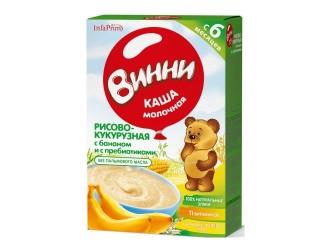 Винни Terci cu lapte din porumb si orez cu banane si prebiotice (6m+) 200 gr.