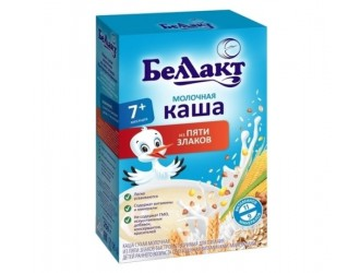 Terci de lapte Беллакт  din 5 cereale 250g