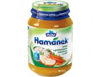 "Hame pure ""Hamanek"" curcan cu legume si orez 190g"