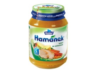 "Hame pure ""Hamanek"" carne de vita cu legume 190g"