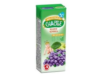 """""""Маленькое счастье"""" Suc de mere-afine 200 ml. (5m +)"""