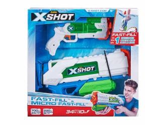 56225 Set 2 Blastere cu apa Fast Fill Medium And Small X-Shot