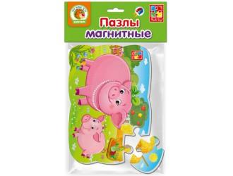 "VT3205-60 Puzzle magnetic А5 ""Scroafa si purcelusul"" l.rusa Vladi Toys"