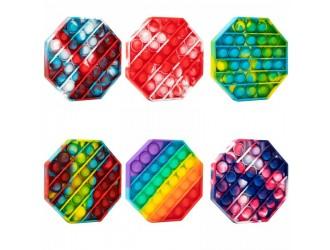 Jucarie Pop it & Flip it Octogon multicolor