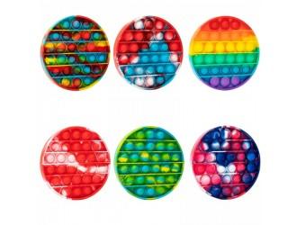 Разноцветная игрушка Pop it & Flip it круглая