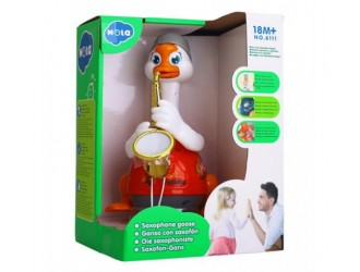 "Hola Toys 6111 Jucarie muzicala interactiva ""Gasca-saxofonist"" in sort."