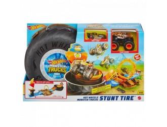 GVK48  Hot Wheels Playset Trucuri in anvelopa