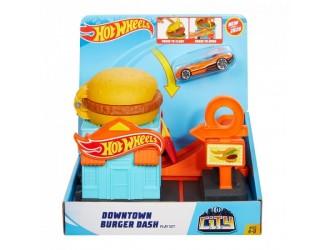 GJK73 Set de jocuri Hot Wheels Burger Adventure