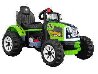 4710 Трактор Kingdom зеленый с аккумулятором
