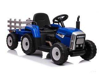 5335 Tractor cu accumulator si remorca culoarea albastra XMX611